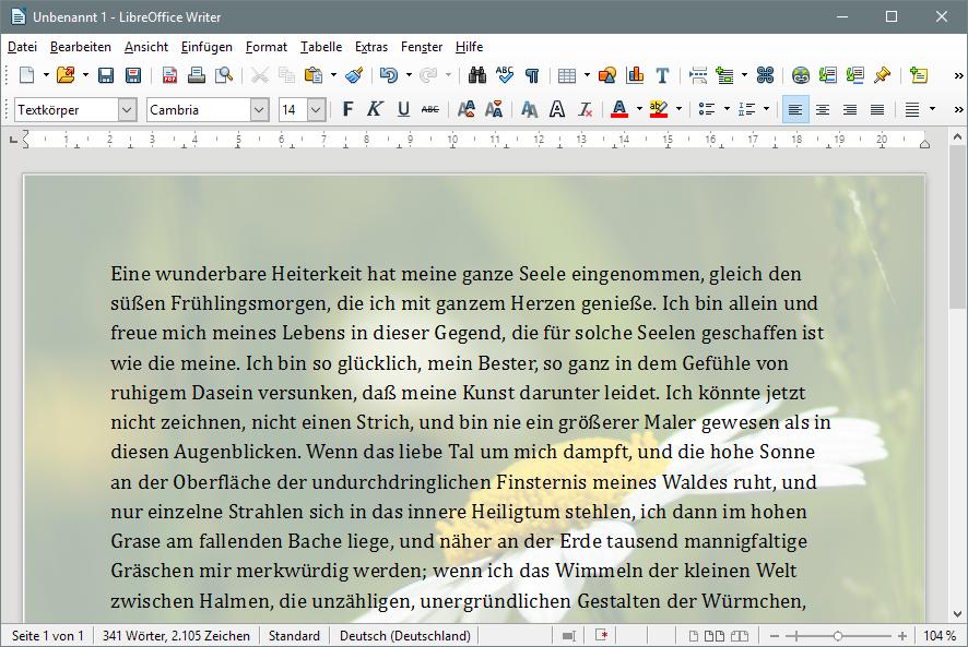 Hintergrundbild In Libreoffice Einfügen Office Tipps Tools