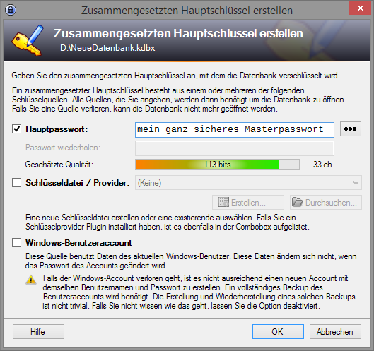 Keepass-Neue-Datenbank-anlegen-Masterpasswort-festlegen