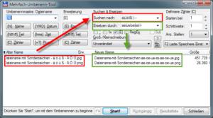 Total Commander (Mehrfach-Umbenenn-Tool) - websichere Dateinamen