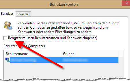 Windows 10 – Passwortabfrage abschalten