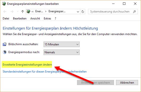 Windows 10 - Erweiterte Einstellungen