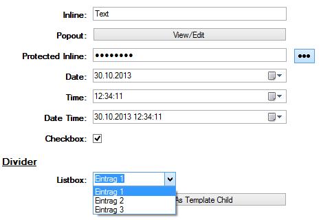 Eintragsformulare für Keepass erstellen und benutzen