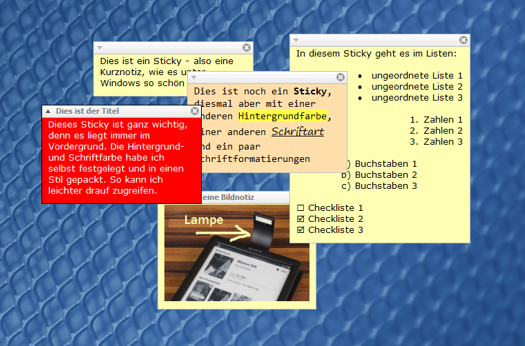 Stickies_notizarten