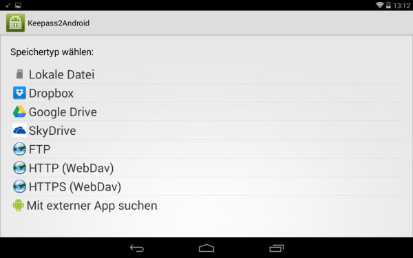 Keepass2Android_Laden_von
