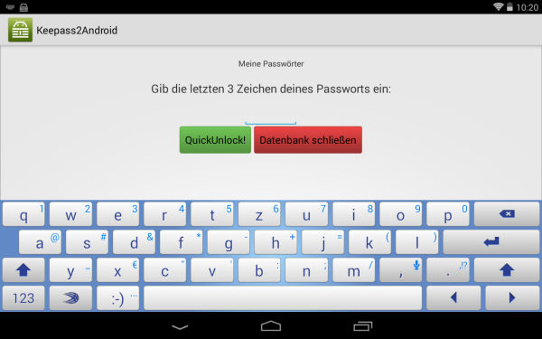 Keepass2Android_Quickunlock