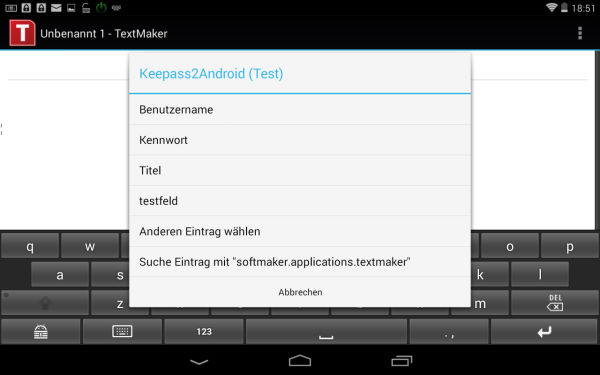 Keepass2Android_Tastatur_mit_Eintraegen